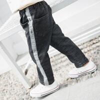 【尾品汇3件3折】2018冬季新款帕丁猫童装男童时尚潮流加绒牛仔裤