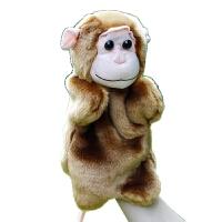 毛绒公仔礼物送女生 手指娃娃小动物玩偶 卡通动物手偶游戏套手玩偶 毛绒玩具小猴子手偶 儿童礼物 猴子