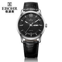 依波(EBOHR)时代元素系列时尚黑面皮带石英情侣表男表男士手表11080138