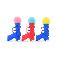 20180528024627861儿童弹力玩具枪男女宝宝创意整蛊恶搞解压神器海绵软球整人玩具 颜色随机 均码