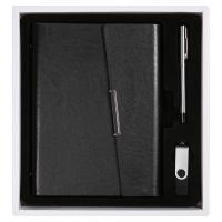 三合(SUNHEY) 笔记本U盘三件套 (记事本+签字笔+16Gu盘)A5可定制LOG0