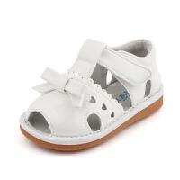 女童凉鞋幼童鞋学步叫叫鞋夏季新品鱼嘴凉鞋白