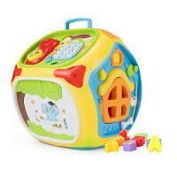 早教智力多面屋学习屋多功能智慧屋婴儿音乐学习桌儿童玩具1-3岁0