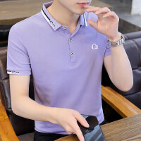 POLO短袖 2021夏季新款男款韩版潮流衬衫领POLO衫短袖 Y712男装
