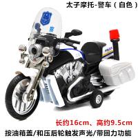 合金摩托车汽车模型声光回力儿童玩具合金属车玩具车