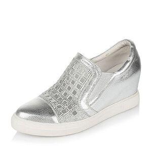 Belle/百丽春专柜同款休闲牛皮革/羊绒皮女单鞋Q1T1DAM6