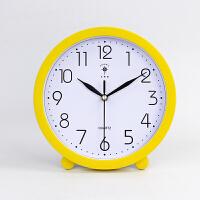 现代简约卧室大号台钟坐钟时钟摆件座钟摆钟桌面客厅创意台式钟表 10英寸