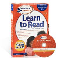 英文原版教材迷上自然拼读第二级Hooked on Phonics Learn to Read Level2启蒙3-4岁