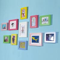 实木20寸大相框墙6寸8寸小相片墙画框挂墙创意自由组合