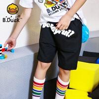 【4折价:87.6】B.duck小黄鸭童装男童短裤夏装新款潮童字母五分裤BF2052907