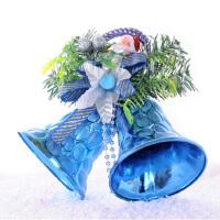 圣诞装饰品 圣诞双铃铛挂饰 儿童礼物 两只铃铛 颜色*