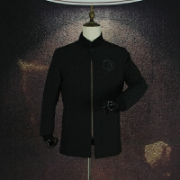 国内单 冬装时尚休闲棒球领羽绒服中长款简欧纯黑色羽绒外套