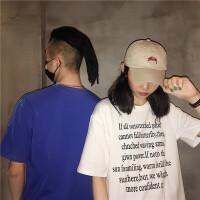 20180513010901538 韩国INS同款复古英文字母印花短袖T恤 男女款