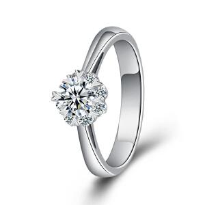 梦克拉 PT950铂金钻石戒指 魅惑  铂金钻戒 钻饰女戒 婚戒 结婚戒指 订婚戒指 群镶钻 可礼品卡购买