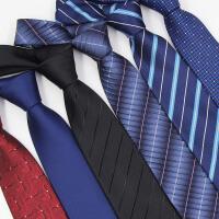 男士领带正装商务宽黑色上班职业拉链式结婚新郎学生