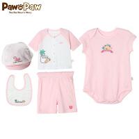 【3件3折 到手价:149】Pawinpaw卡通小熊童装夏款婴幼儿新款男女宝宝同款礼盒五件套