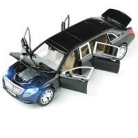 仿真车模1:24合金劳斯莱斯幻影车模迈巴赫合金汽车模型1:32红旗阅兵车摆件男孩回力玩具车小汽车模型