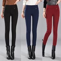 加绒打底裤女外穿显瘦加厚保暖黑色新款韩版秋冬弹力铅笔小脚裤子