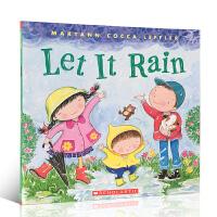 顺丰发货 英文原版绘本 Let It Rain 下雨 幼儿启蒙认知图画故事书 3-6岁 平装