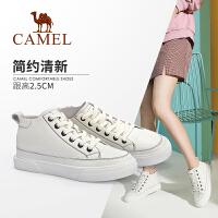 Camel/骆驼2019秋季新款 学生韩版板鞋简约百搭高帮鞋女
