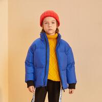 【2件3折价:219】巴拉巴拉旗下巴帝巴帝19年冬中大童时尚休闲儿童羽绒服男童外套短款