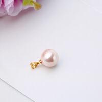 珍珠单吊坠项链s925银气质单颗贝珠项坠子韩国女饰品不含链