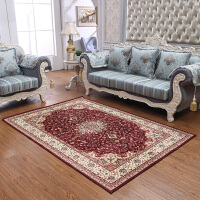 地毯客厅欧式卧室公主床前边沙发茶几定制毛绒夏季可机洗地毯 YR欧-4红色