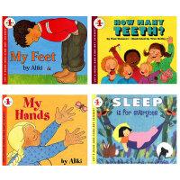 英文原版书绘本 关于我的身体6册 my hands/feet/five senses/I'm growing/teet