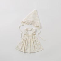 [2件3折价:48]戴维贝拉婴幼儿口水巾宝宝围嘴兜饭兜帽子礼盒DBH10080