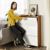 超薄鞋柜鞋架翻斗式家用小户型门口窄17cm收纳简约现代门厅玄关柜