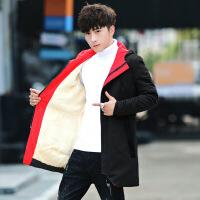 秋装男士风衣2018新款秋冬季加绒加厚外套韩版潮流中长款冬装夹克