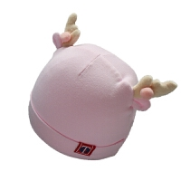 新款0-3个月新生儿帽子男童棉胎帽女童婴儿帽子韩版宝宝套头帽