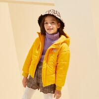 【2件4折:104】巴拉巴拉旗下巴帝巴帝2019冬女童中大童时尚甜美棉服儿童保暖多色棉袄外套