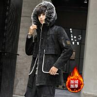 呢子大衣冬季韩版男英伦风中长款大衣男士潮流帅气风衣加厚外套潮