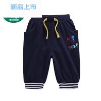 宝宝童装迪斯尼男童婴幼儿针织七分裤2018夏款1-6岁裤子