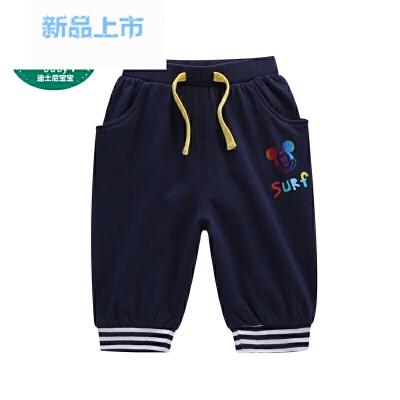 宝宝童装迪斯尼男童婴幼儿针织七分裤2018夏款1-6岁裤子 发货周期:一般在付款后2-90天左右发货,具体发货时间请以与客服协商的时间为准