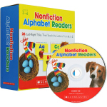 Nonfiction Alphabet Readers 英文原版 Scholastic学乐英语字母启蒙教材 26册附C