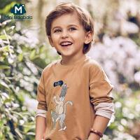 【913超品限时秒杀价:24.9】迷你巴拉巴拉男童纯棉宽松长袖T恤2019春装新品儿童男宝宝体恤衫