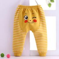 婴儿大屁屁裤裤子秋冬宝宝加绒哈伦裤男童女童大pp裤高腰长裤秋季