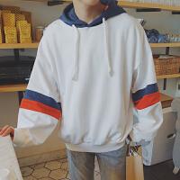 港风个性卫衣男套头连帽学生潮韩版拼接新款男士秋季时尚运动外套
