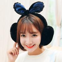 耳套保暖耳罩女冬季可爱兔耳朵蝴蝶结仿兔毛耳暖耳包耳捂韩版