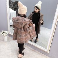 女童外套春秋2018新款韩版中大童毛呢大衣儿童加厚中长款秋冬呢子