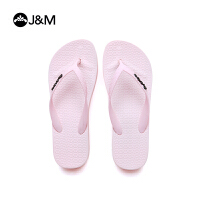 jm快乐玛丽2018厚底舒适沙滩拖鞋夹趾平底人字休闲女拖鞋T1052W