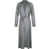 抖音网红潮牌2019长袖薄印花日式睡衣长款性感和服和风浴袍睡袍女春夏晨袍 灰色