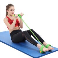 仰�P起坐健身器材家用�\�永�力器�_蹬拉力�K 拉力器(4股�G色)+NBR瑜伽�|(10mm�{色)