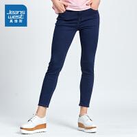 [秒杀价:38.9元,秒杀狂欢再续仅限4.6-4.10]真维斯女装 秋装弹力舒适贴身牛仔裤
