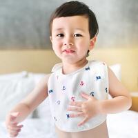 三利 纯棉高密度纱布围嘴 A类安全标准婴幼儿用品 宝宝围兜口水巾 儿童吃饭兜
