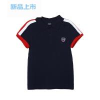 eland ki童装儿童依恋男童2018年春夏新款polo领短袖针织衫T恤
