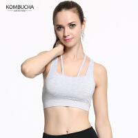 【限时狂欢价】Kombucha瑜伽运动内衣2018夏季新款女士聚拢定型工字美背跑步健身防震文胸K0162