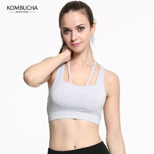 【限时特惠】KOMBUCHA瑜伽运动内衣2018夏季新款女士聚拢定型工字美背跑步健身防震文胸K0162